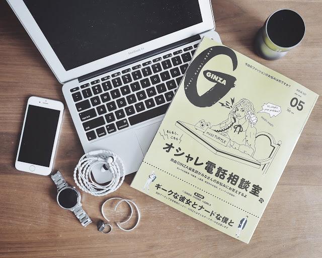 GINZA 2016年5月号「FASHION TECH」特集ページに登場しています