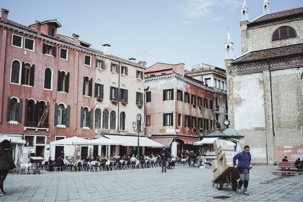 ヴェネチアに来て、初めての晴れ間。